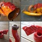 Keramikdidgeridoo rot