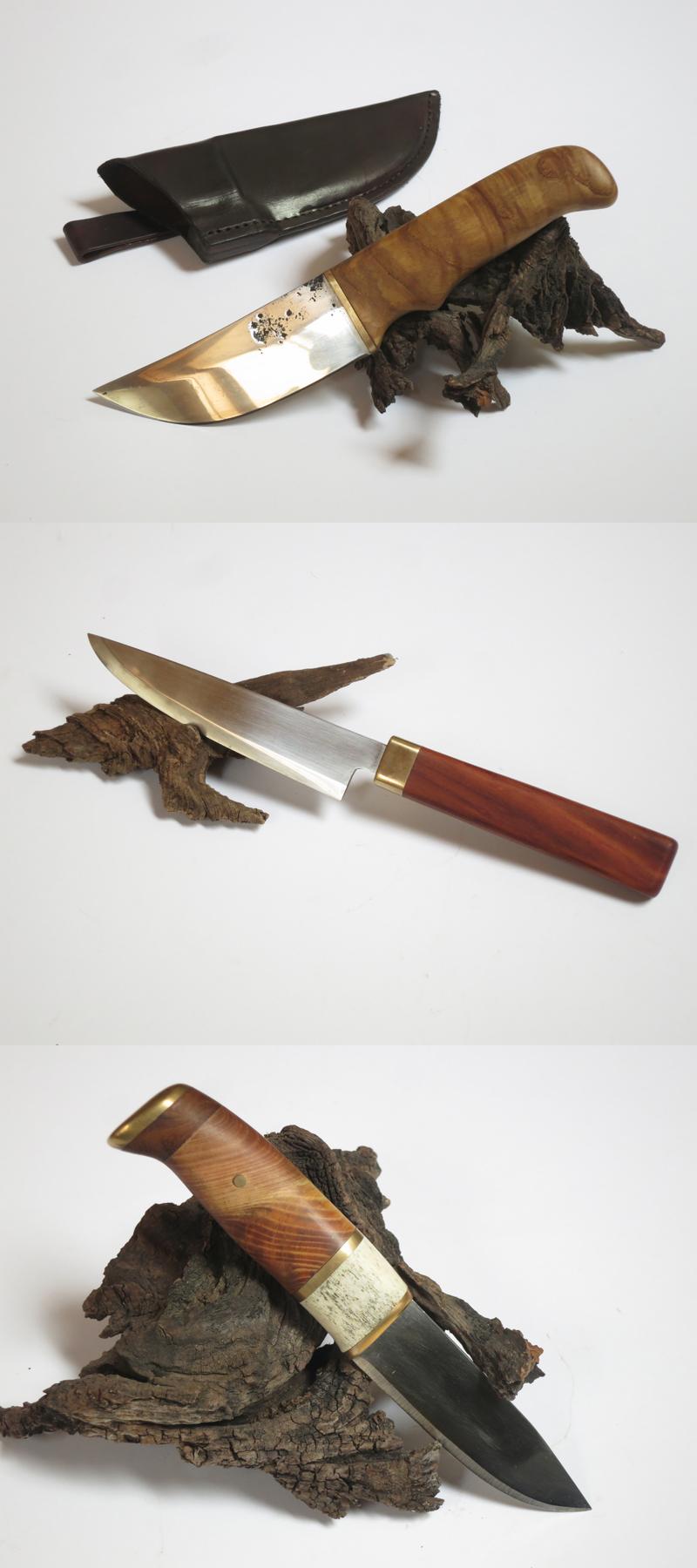 geschmiedete Messer in Steckangelbauweise