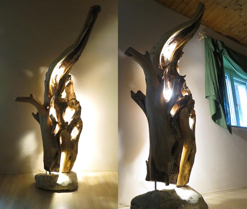 Weidenskulptur - Lichtobjekt